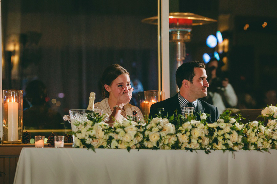Emotional Bride during reception - Liberty House wedding Photography