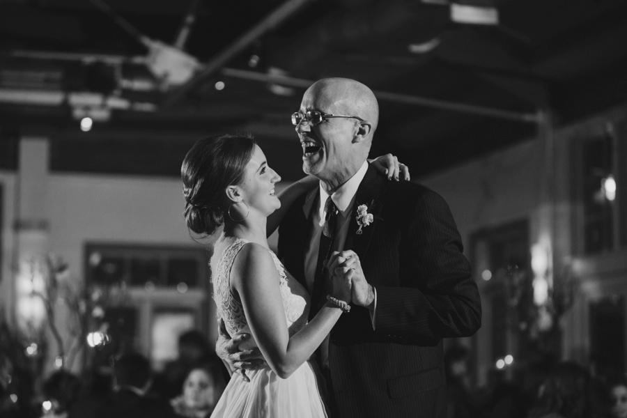 Bride and Father dancing during wedding reception at Liberty House Wedding Photography