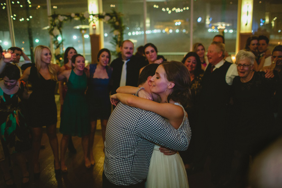 Bride and groom during last dance - Liberty House Wedding Photography