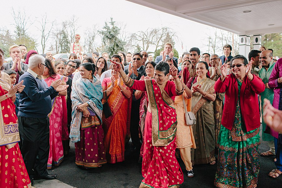 Family dancing during Indian Wedding Baraat